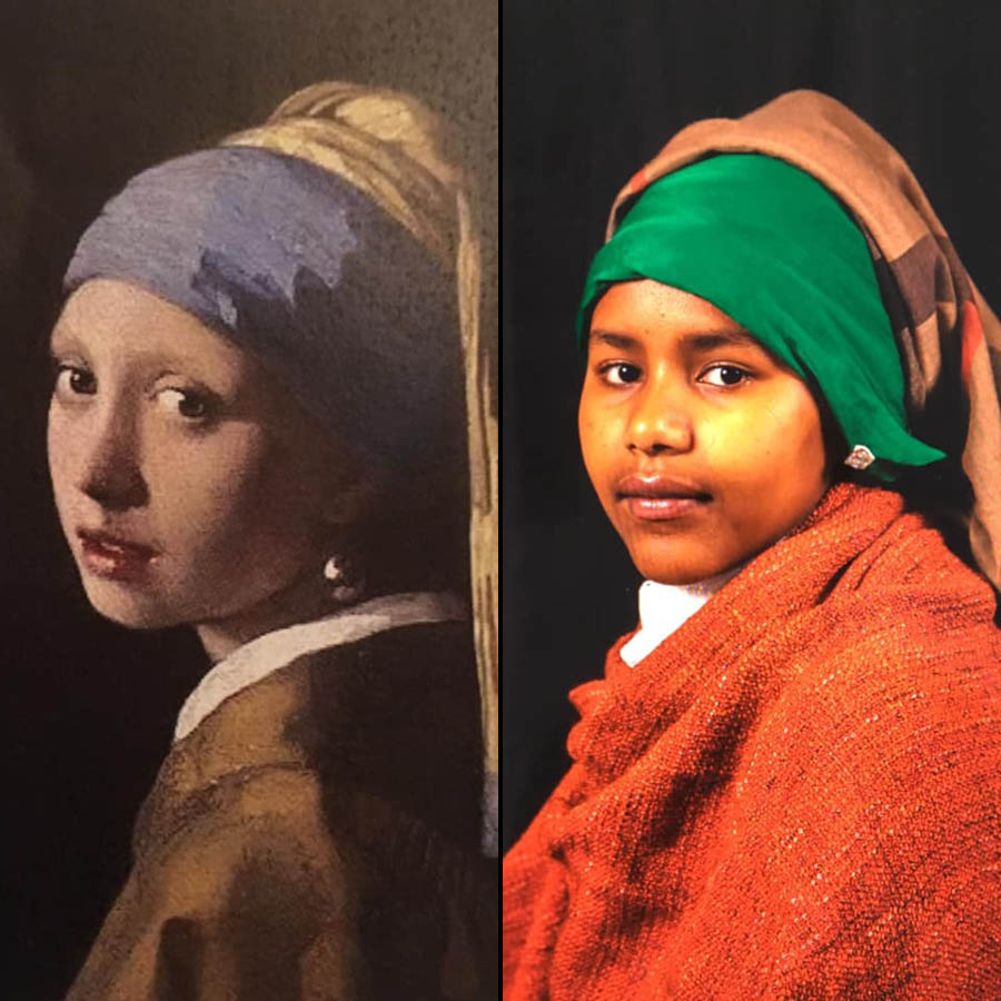 Meisje met de parel 2.0 van Stichting Kunstbus
